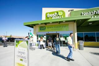 The Grand Opening of Fresh & Easy on 4760 W. Cactus in the southwest part of Las Vegas, Wednesday March 21, 2012.