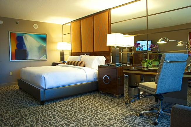 A look at one of MGM Grand's newly renovated rooms, Thursday March 22, 2012.