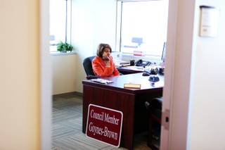 North Las Vegas Ward 2 City Councilwoman Pamela Goynes-Brown inside her office at North Las Vegas City Hall on Thursday, March 22, 2012.