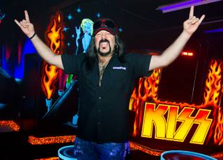 Vinnie Paul at KISS by Monster Mini Golf on Monday, March 19, 2012.
