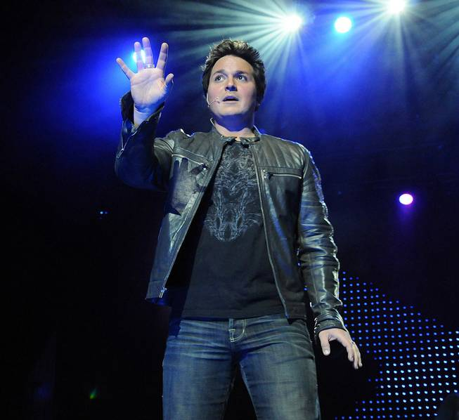 "Michael Turco in ""Magic and Mayhem"" at V Theater in Planet Hollywood."