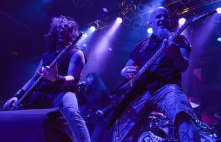 Frank Bello and Scott Ian of Anthrax at House of Blues in Mandalay Bay on Saturday, March 23, 2013.