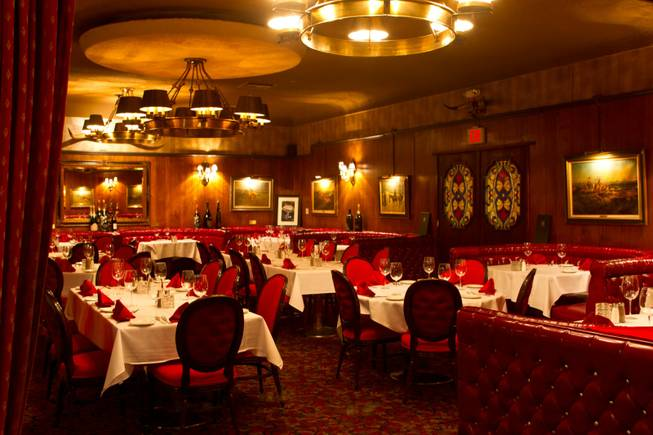 A view inside the Golden Steer Steak House, 308 W. Sahara Avenue, just west of the Las Vegas Strip Sunday, March 23, 2012.