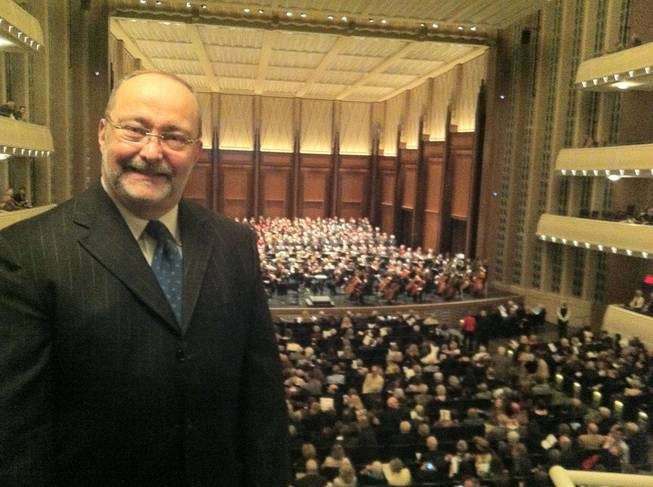 Myron Martin at the Las Vegas Philharmonic's premiere at Reynolds Hall in the Smith Center for the Performing Arts on Saturday, March 24, 2012.