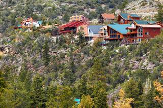Houses are seen built on the side of Mt. Charleston Wednesday, March 28, 2012.