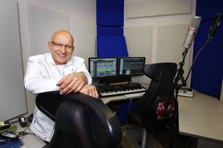 Willie Wilcox, senior audio director for Bally Technologies, poses in his studio Thursday, March 29, 2012.
