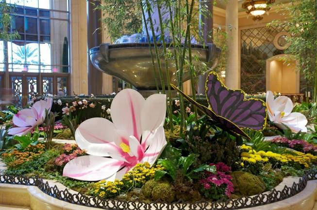Horticulturist Dana Beatty's spring display at the Palazzo.