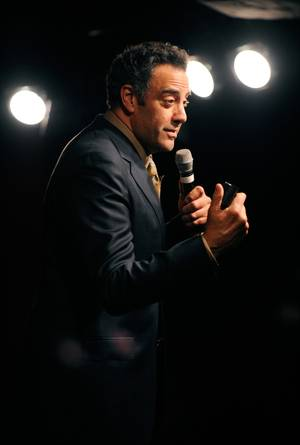 Brad Garrett onstage during his Comedy Club VIP Grand Opening at MGM Grand on Thursday, March 29, 2012.