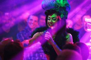 "Melody Sweets performs during the Wednesday, March 28, 2012, performance of ""Absinthe"" at Caesars Palace."
