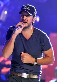Luke Bryan rehearses Thursday, March 29, 2012, for the 2012 Academy of Country Music Awards at MGM Grand Garden Arena. The awards are Sunday, April 1, 2012.