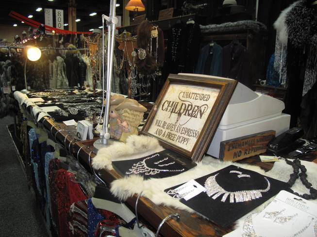 Vendors at the Academy of Country Music Experience were selling everything from jewelry to hats to rugs at the Mandalay Bay Convention Center Saturday, March 31.