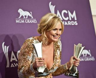 Miranda Lambert backstage at the 47th Annual Academy of Country Music Awards at MGM Grand Garden Arena on Sunday, April 1, 2012.