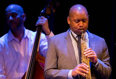 Branford Marsalis performs at Cabaret Jazz at Smith Center for the Performing Arts on Saturday, March 31, 2012.