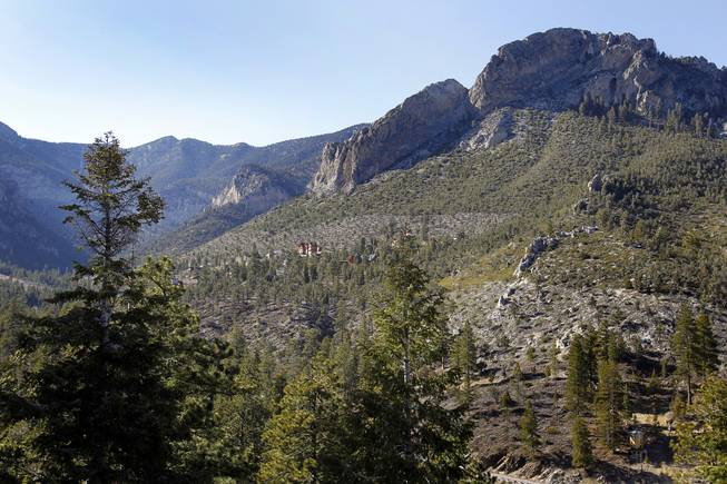 A view looking toward the Echo View subdivision in Kyle Canyon on Mount Charleston Thursday, April 5, 2012.