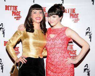 The Bettie Page lookalike winner and Claire Sinclair on the