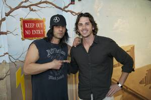 "Criss Angel and Ben Flajnik at ""Believe"" in the Luxor on Wednesday, April 4, 2012."