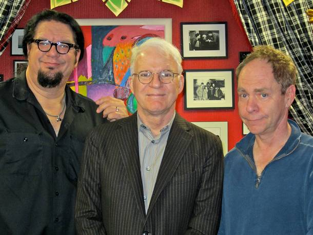 Penn Jillette, Steve Martin and Teller at the Rio.
