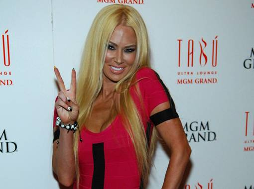 Jenna Jameson celebrates her 38th birthday with Tito Ortiz at Tabu Ultra Lounge in MGM Grand on Saturday, April 7, 2012.