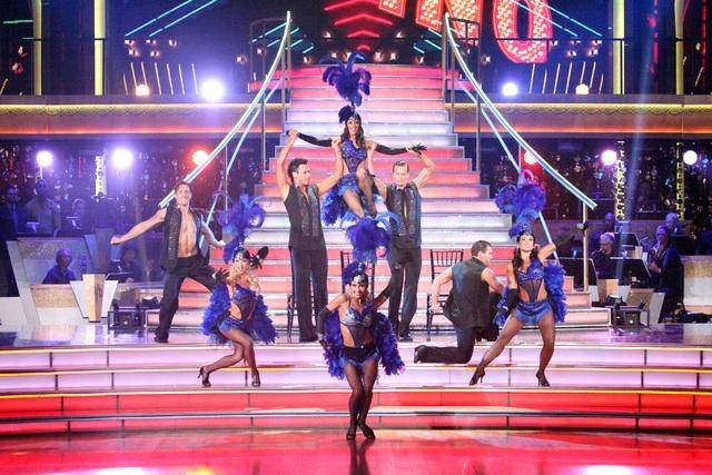 "Cast members of Tropicana's ""Dancing With the Stars: Live in Las Vegas"" perform on ABC's ""Dancing With the Stars"" on Tuesday, April 10, 2012."
