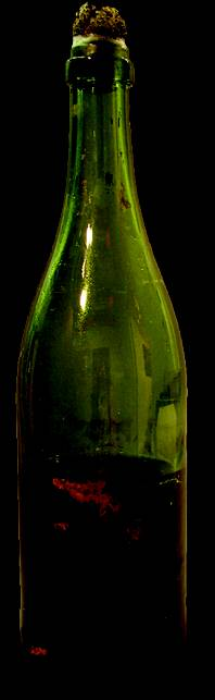 A champagne bottle from Titanic: The Artifact Exhibition at the Luxor.
