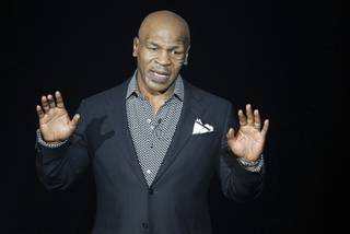 Former undisputed heavyweight boxing champion Mike Tyson performs in Mike Tyson: Undisputed Truth - Live on Stage