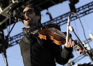 Andrew Bird performs during the first weekend of the 2012 Coachella Valley Music and Arts Festival, Saturday, April 14, 2012, in Indio, Calif.