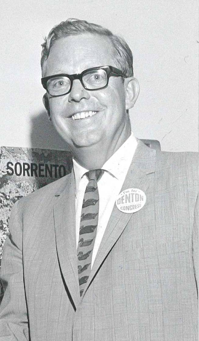 Ralph Denton during the congressional race in 1966.