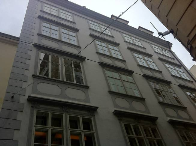 "View of Mozart's central Vienna home. He wrote ""The Marriage of Figaro"" from this residence."