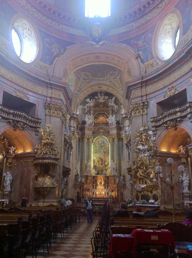 The altar at St. Peter's Church in Vienna.