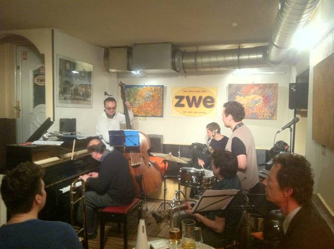 The scene at Zwe in Vienna. All that jazz ...