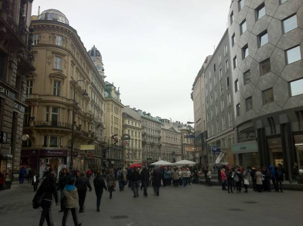 Stephansplatz, Vienna's center of commerce.