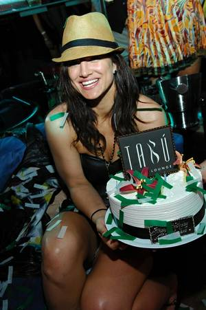 Gina Carano's 30th Birthday at Tabu