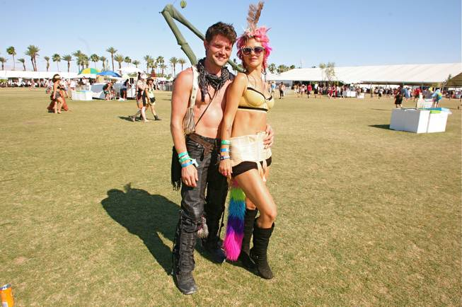 Music fans blended style and comfort to bear the desert heat at Weekend 2 of the 2012 Coachella Valley Music and Arts Festival in Indio, Calif., on April 20-22, 2012.