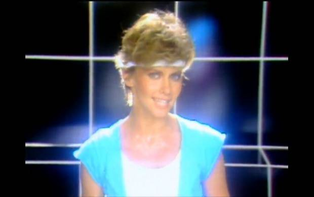 "Olivia Newton-John in the video for her 1983 hit ""Physical."""