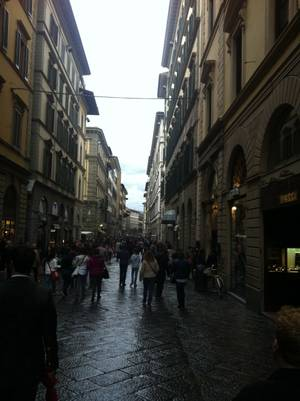 A street in Florence leading to Piazza del Duomo.