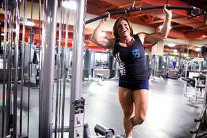 Denise Dinger works out at City Athletic Club in Las Vegas on Wednesday, April 25, 2012.