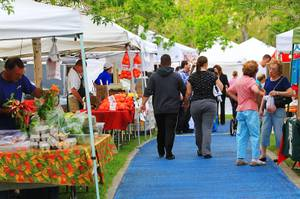 The Summerlin farmers market is seen Wednesday, April 25, 2012.