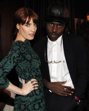 Florence Welch, lead singer of Florence + the Machine, attends the MSN Presents Florence + the Machine's Las Vegas After-Party with boyfriend James Nesbitt at the Cosmopolitan on Saturday, April 21, 2012.