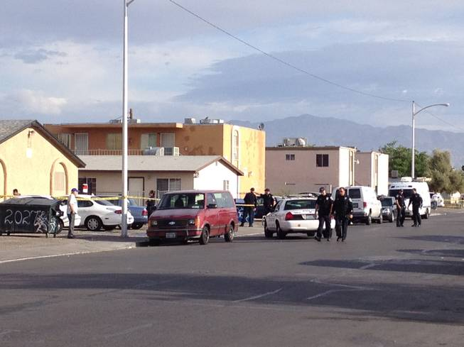 Two men were killed and two women critically injured in this four-plex in the 2000 block of Webster Street in North Las Vegas, police said.