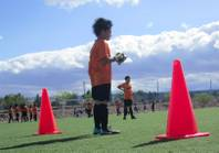 About 300 elementary school-age students from across the valley gathered for a tournament at the Charlie Kellogg and Joe Zaher Sports Complex on April 26, 2012, as part of the One Goal At A Time Soccer program, which was started 10 years ago by a local physical education teacher.