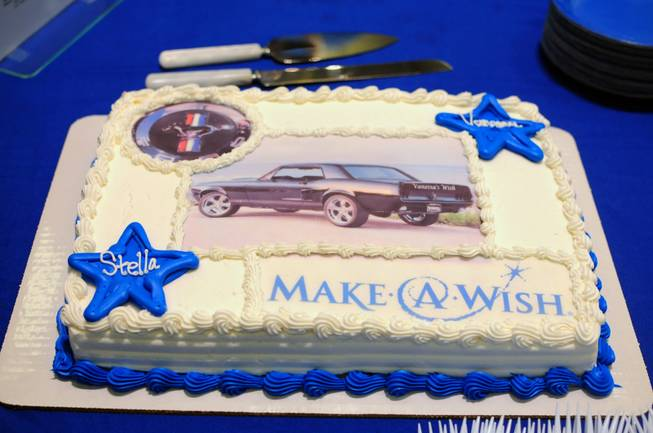 "A cake celebrating Vanessa Cazares' ""Stella"" -- her refurbished 1967 Ford Mustang coupe -- taken on Saturday, April 28, 2012."