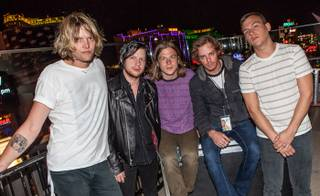 Cage the Elephant at Boulevard Pool at the Cosmopolitan on Thursday, April 26, 2012.
