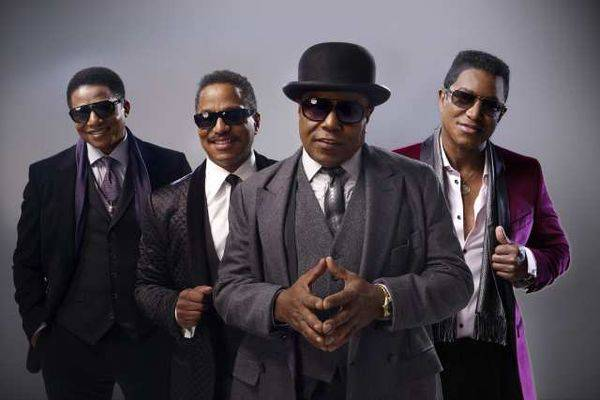 A promotional shot of the Jackson brothers, from left, Jackie, Marlon, Tito and Jermaine.
