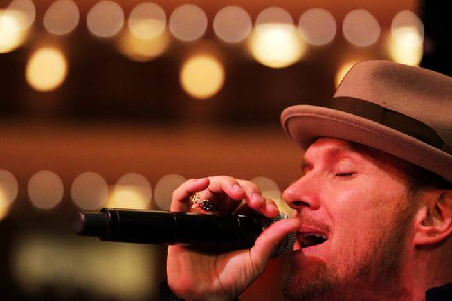 Matt Goss sings during sound check during rehearsal with Nevada Ballet Theatre at the Smith Center in Las Vegas on Wednesday, May 2, 2012.