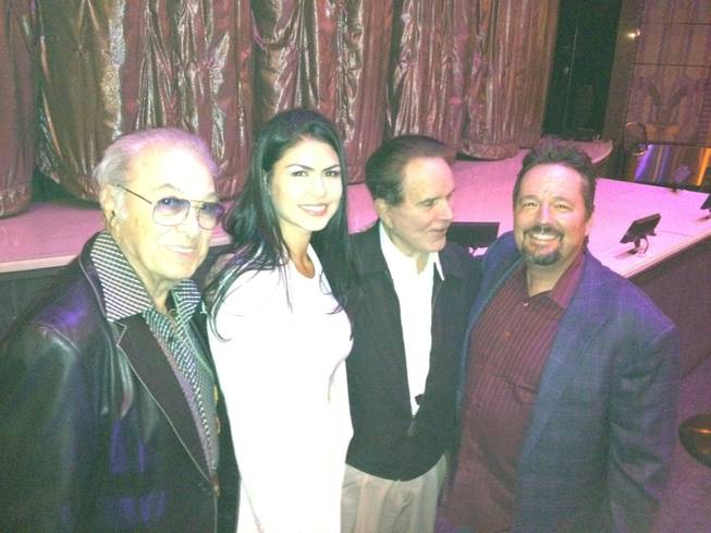 Steve Rossi, Taylor Makakoa, Rich Little and Terry Fator at LVH.