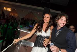 Ben Flajnik and Courtney Robertson at Pure