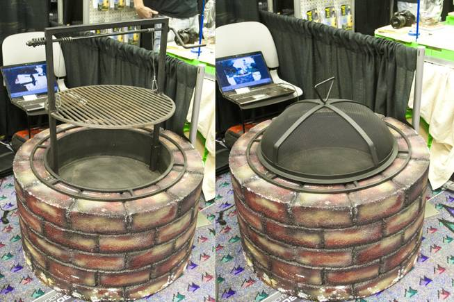 The Santa Maria Portable Fire Pit & BBQ is shown at the 2012 National Hardware Show in Las Vegas, Wednesday May 2, 2012.