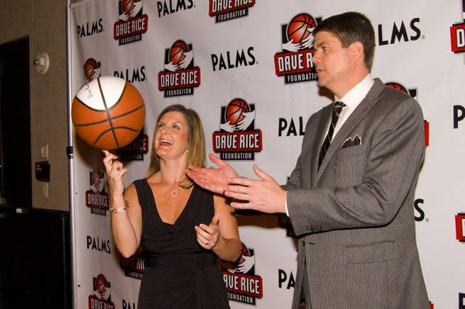 Mindy Rice and UNLV basketball coach Dave Rice pose for pictures during 'An Evening with Dave Rice', which benefits The Dave Rice Foundation, Friday May 4, 2012. The foundation helps educate and support health initiatives concerning autism and other developmental disorders.