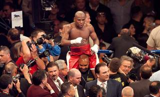 Floyd Mayweather Jr. vs. Miguel Cotto at MGM Grand Garden Arena on Saturday, May 5, 2012. Cotto lost his WBA super light middleweight title to Mayweather Jr. in a unanimous decision.