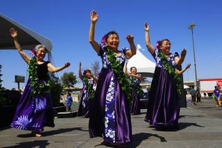 Lilian Iwamoto dances at the annual Lei Day Polynesian Festival Saturday, May 5, 2012.
